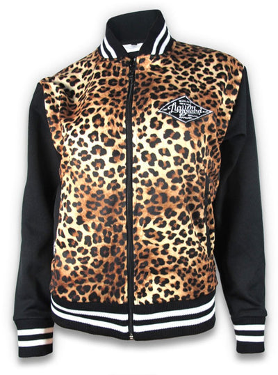 "Women's ""Leo Tan"" Jacket by Liquorbrand (Leopard)"