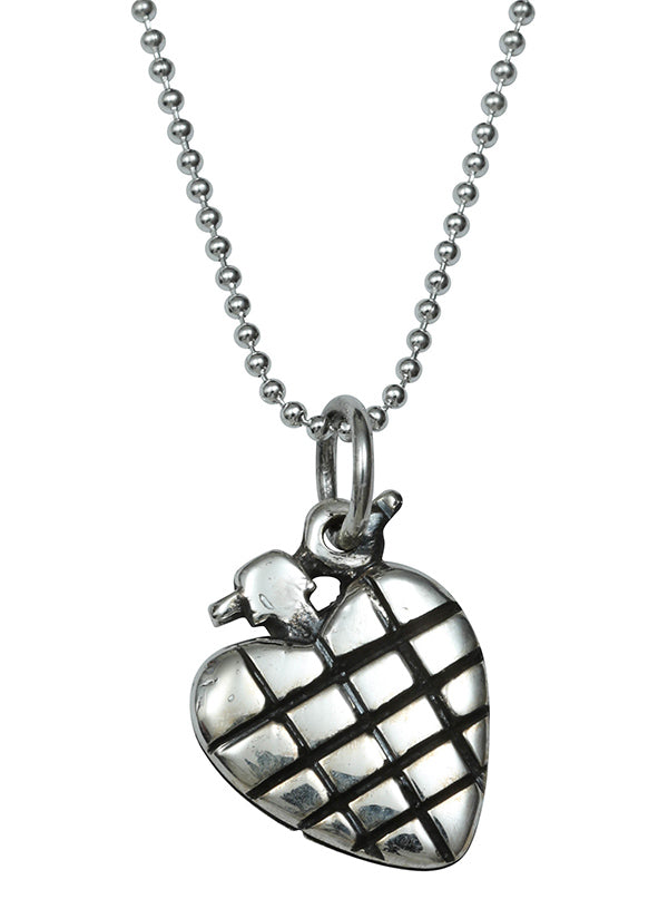 Heart Grenade Necklace by Femme Metale
