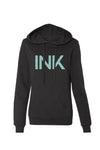 Women's INK III Glitter Black Hoodie by InkAddict