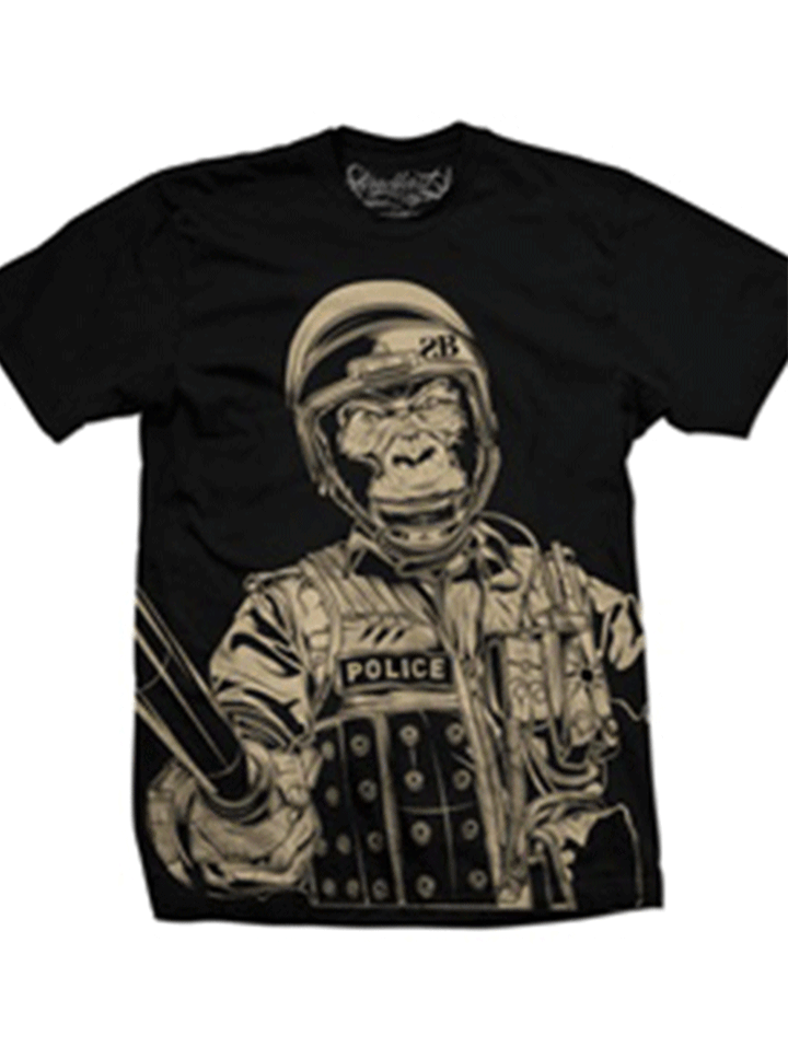 "Men's ""Gorilla Warfare"" Tee by Steadfast Brand (Black)"