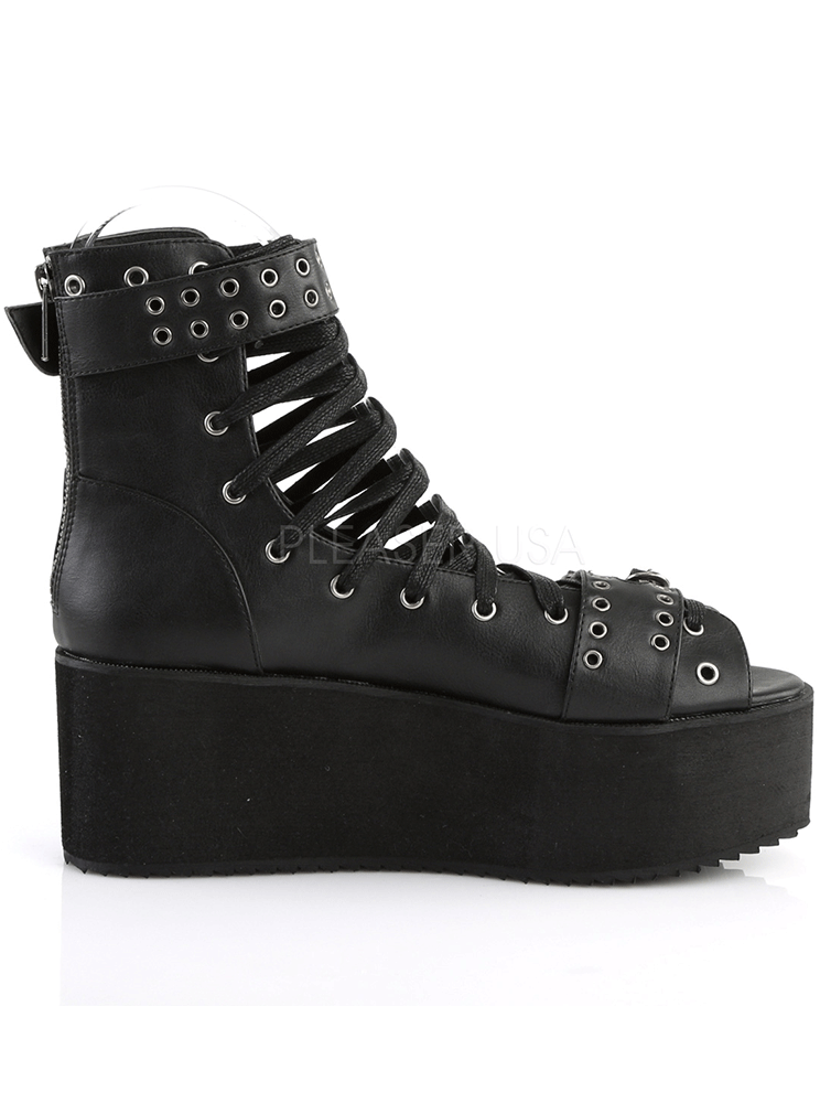 Women's Grip-105 Vegan Leather Platform Sandal by Demonia