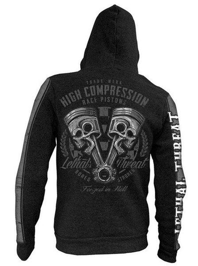 "Men's ""High Compression"" Zip-Up Hoodie by Lethal Threat (Black) - www.inkedshop.com"
