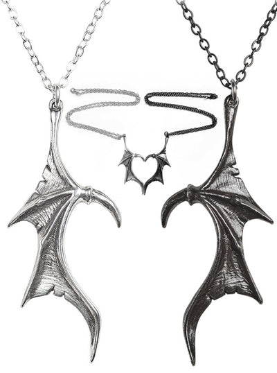 """Darkling Heart"" Necklace by Alchemy of England (Pewter)"