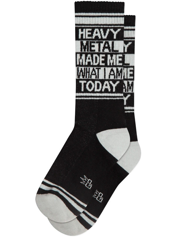 Unisex Heavy Metal Ribbed Gym Socks