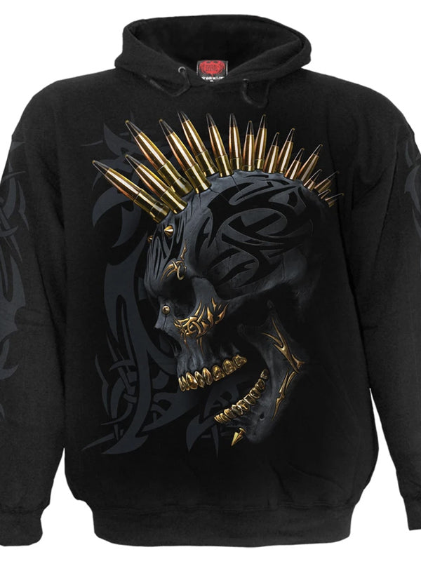 Men's Black Gold Hoodie by Spiral USA