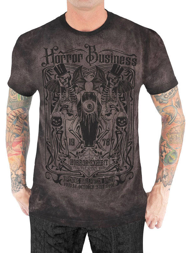 Men's Horror Business Distressed Tee by Serpentine Clothing