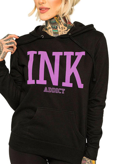 "Women's ""Ink College Puff"" Pullover Hoodie by InkAddict (More Options)"