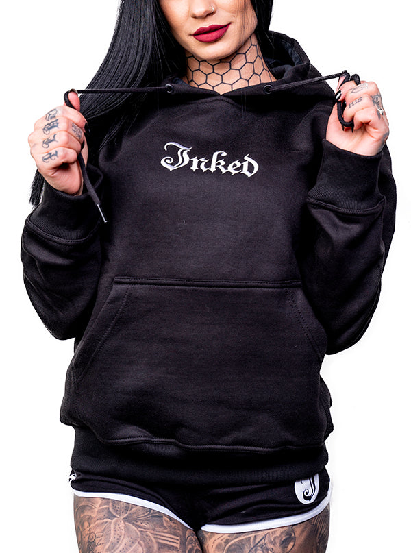 Unisex Inked Logo Embroidered Hoodie by Inked