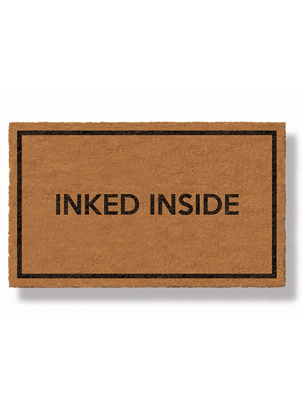 Inked Inside Doormat by Bison