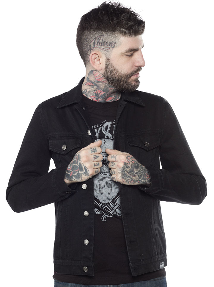 Men's Denim Jacket by Kustom Kreeps (Options)