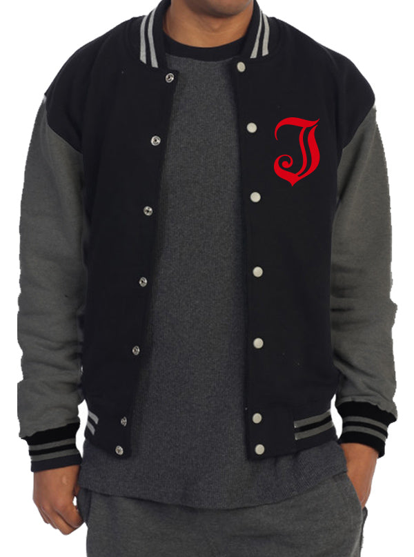 "Men's ""Inked Logo"" Varsity Jacket by Inked (Charcoal)"