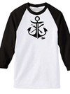 "Men's ""JL Anchor"" Baseball Tee by Steadfast Brand (White/Black)"