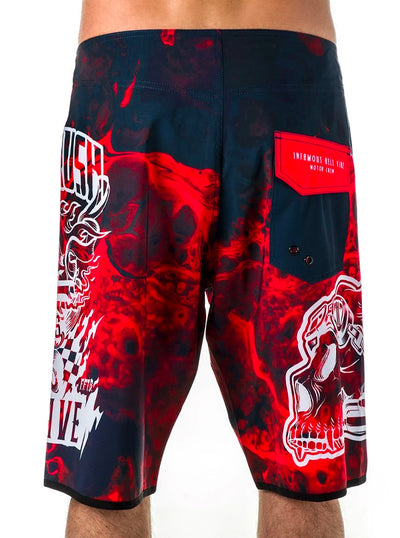 Men's Don't Judge Me Now Board Shorts by Headrush Brand