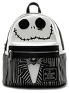"""Jack Cosplay"" Mini Faux Leather Backpack by Loungefly x Nightmare Before Christmas (Black/White)"