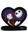 """Jack & Sally"" Heart Crossbody Bag by Loungefly x Nightmare Before Christmas (Black)"