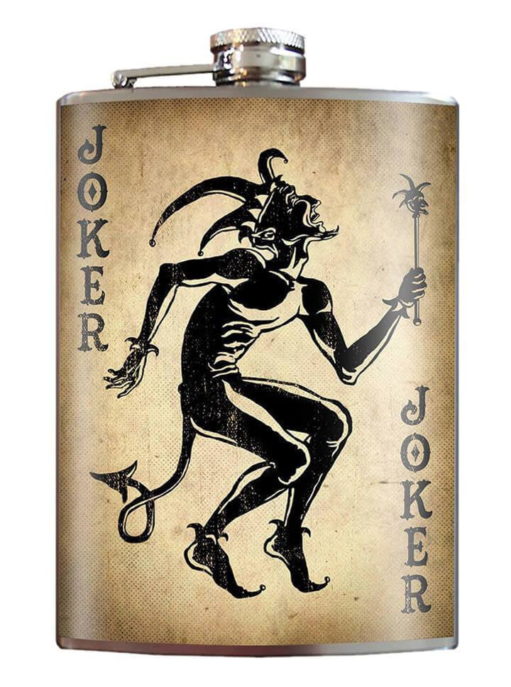 """Joker"" Flask by Trixie & Milo - www.inkedshop.com"