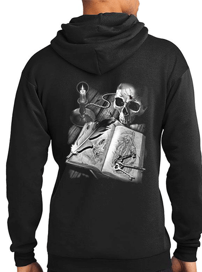 Men's Journal of Death Hoodie by Tat Daddy