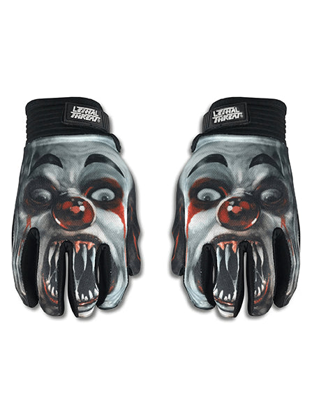"""Killer Clown"" Gloves by Lethal Threat - www.inkedshop.com"