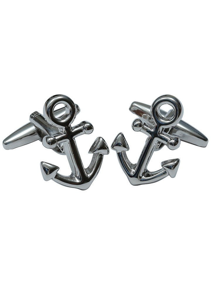 """Anchors"" Cufflinks by Kitsch 'n' Kouture (Metal) - www.inkedshop.com"