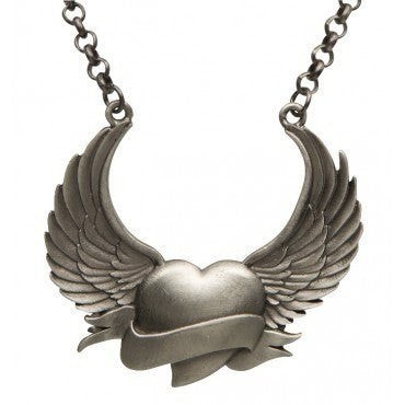 Heart a Flight, Necklace by Kitsch 'n' Kouture - SDTT - InkedShop - 1