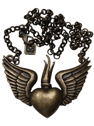 """Winged Sacred"" Necklace by Kitsch 'n' Kouture (More Options) - www.inkedshop.com"