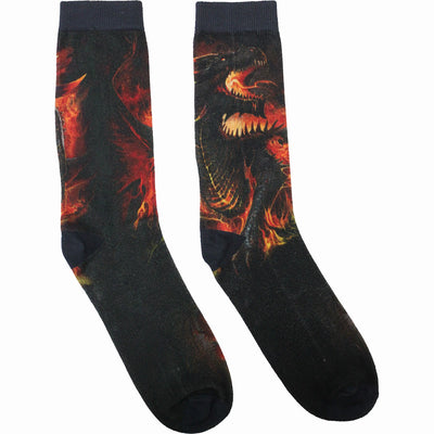 Unisex Draconis Printed Socks by Spiral USA