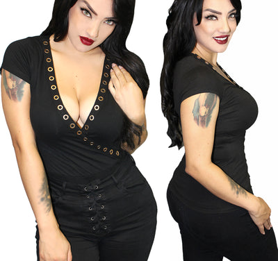 Women's Vamptress Gothic Top by Demi Loon