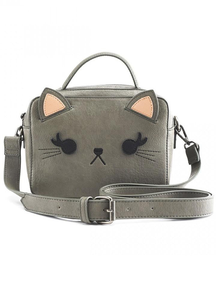 Cat Crossbody bag by Loungefly (Grey)