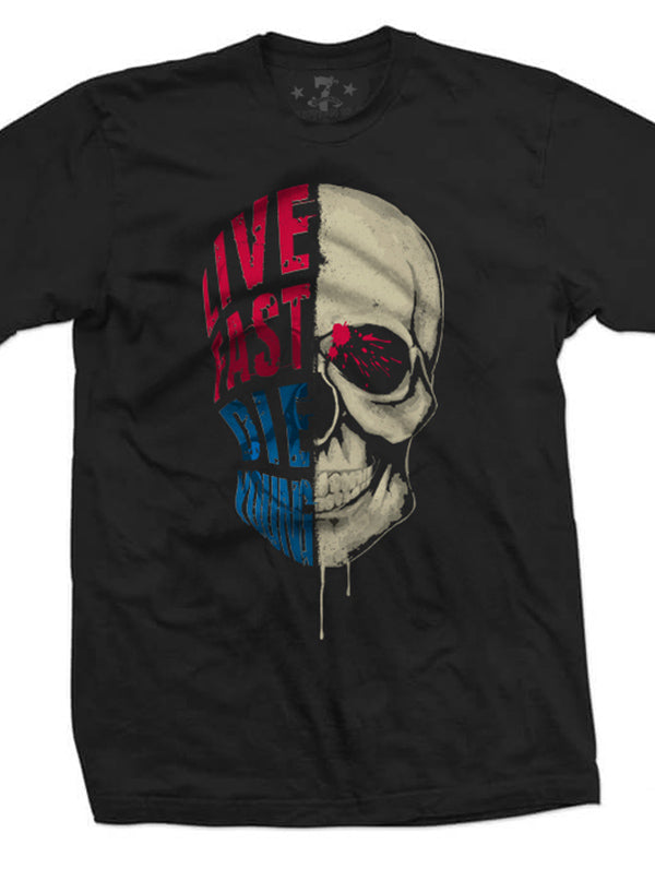 Men's Live Fast Die Young Tee by 7th Revolution