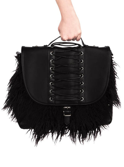 Loke Fur Messenger Bag by Killstar