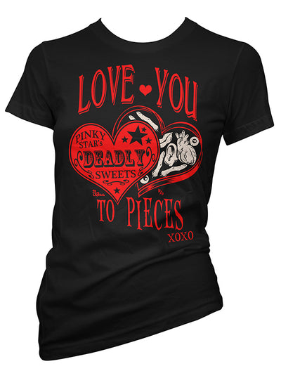 Women's Love You to Pieces Tee by Pinky Star