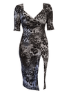 "Women's ""Leopard"" Bella Dress by Switchblade Stiletto (Black/White)"