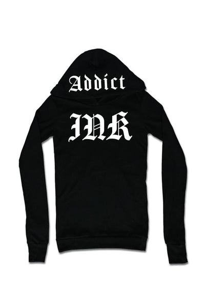 Women's Ink Lettering Thermal Hoodie by InkAddict