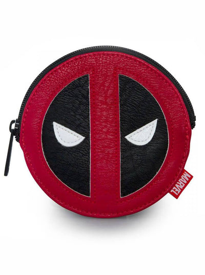 """Deadpool"" Coin Bag by Loungefly x Marvel (Red/Black) - www.inkedshop.com"