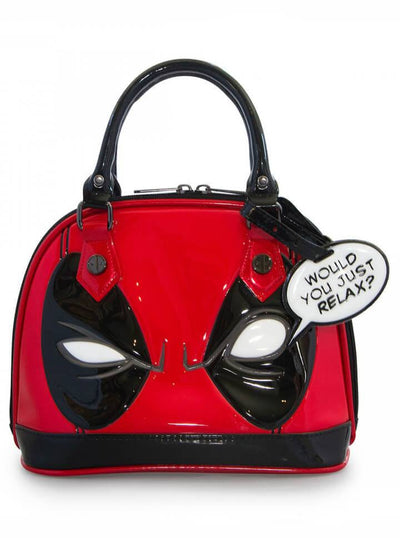 """Deadpool"" Mini Dome Bag by Loungefly x Marvel (Red/Black) - www.inkedshop.com"
