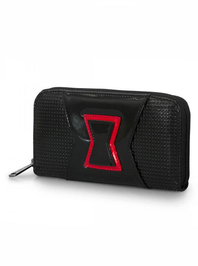 """Black Widow"" Wallet by Loungefly x Marvel (Black) - www.inkedshop.com"