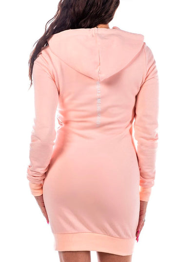 Women's Pink Machine Hoodie Dress by Headrush Brand