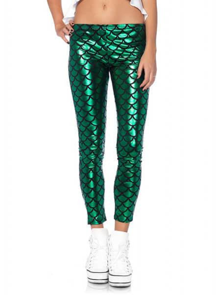 "Women's ""Mermaid"" Leggings by Leg Avenue (Green) - www.inkedshop.com"