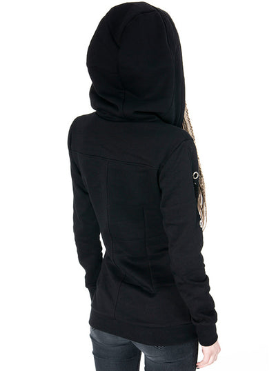 Women's Mesh & Eyelets Hoodie by Restyle