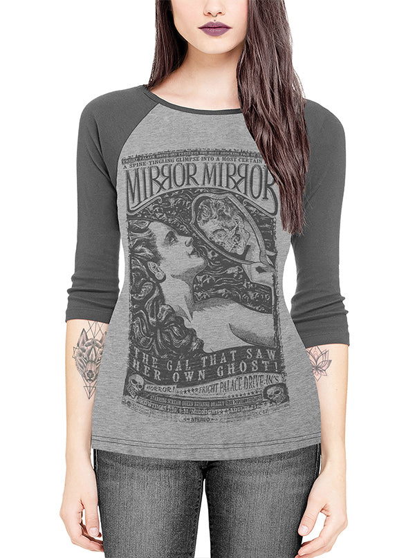 Women's Mirror Mirror Raglan Tee by Serpentine Clothing