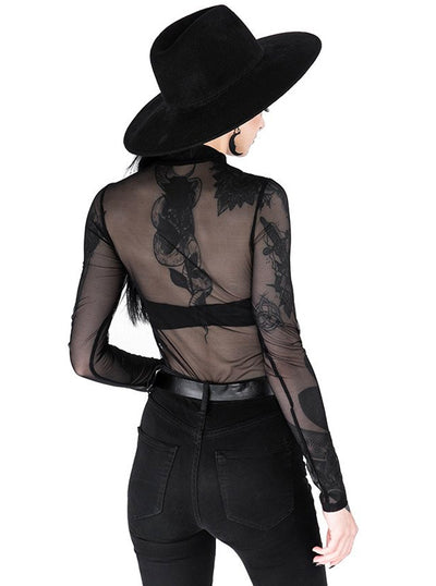Women's Moon Child Mesh Bodysuit by Restyle