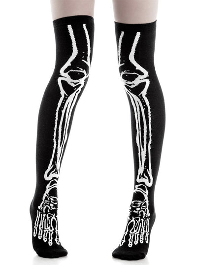 """Morgue"" Long Socks by Killstar (Black)"