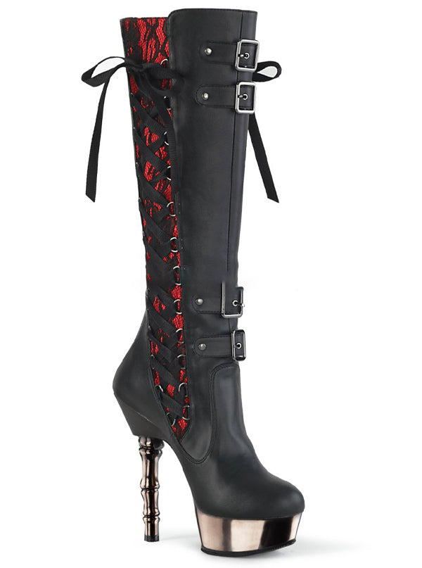 "Women's ""Muerto 2030"" Platform Knee High Boots by Demonia (More Options)"