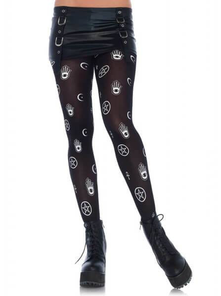 "Women's ""Mystical Symbol"" Tights by Leg Avenue (Black) - www.inkedshop.com"