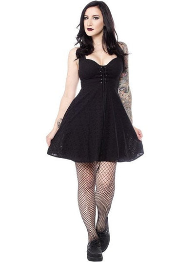 "Women's ""Magnolia"" Dress by Sourpuss (Black)"