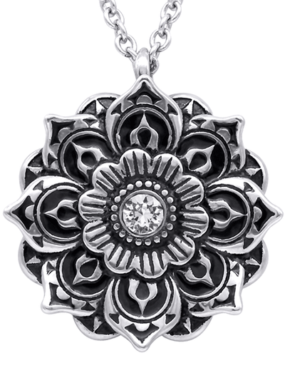 """Mandala"" Necklace by Controse (Stainless Steel)"