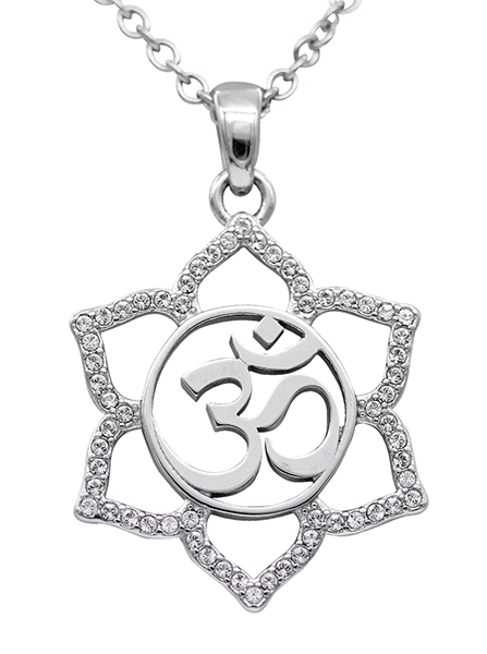 Sacred Om Lotus Flower Necklace by Controse