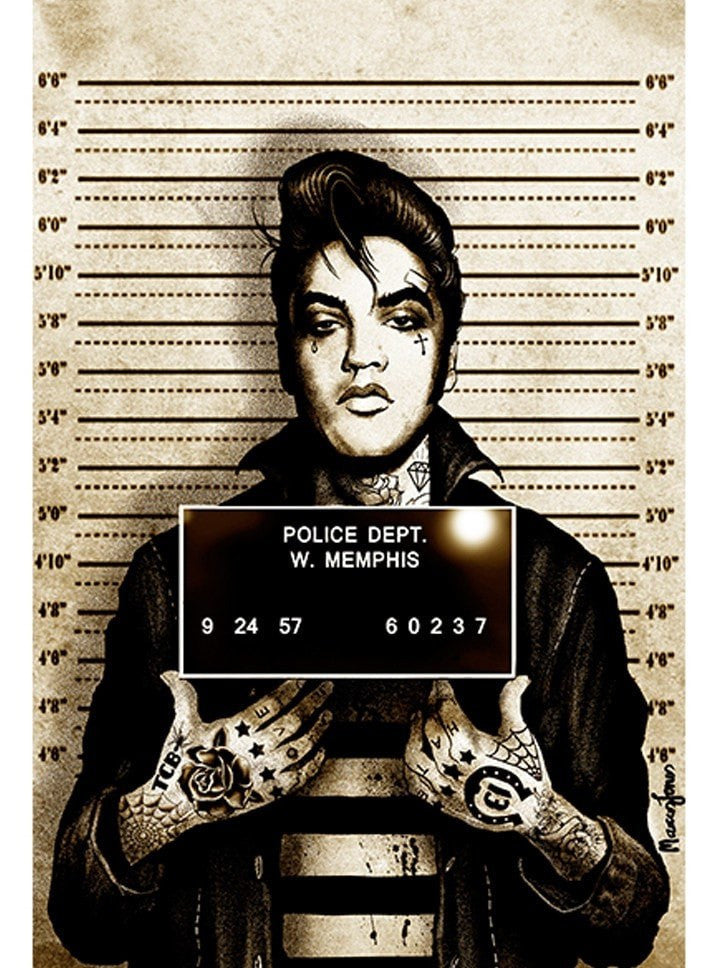 """Mr Vegas Mugshot"" Print by Marcus Jones for Black Market Art - www.inkedshop.com"