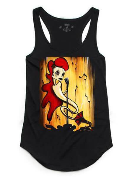 "Women's ""Muse"" Tank by 7th Revolution (Black) - www.inkedshop.com"