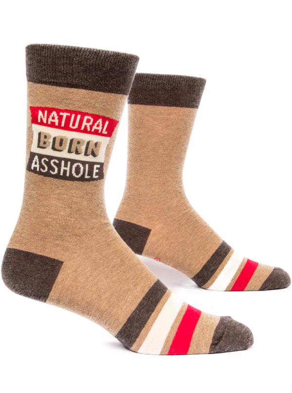 Men's Natural Born Asshole Crew Socks